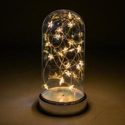 Lampka ozdobny dzwonek 20 led ciepłe białe gwiazdki na baterie