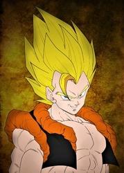 Dragon ball - gogeta - plakat wymiar do wyboru: 70x100 cm