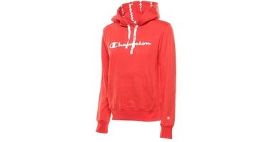 Champion hooded sweatshirt 112580-rs046 l czerwony