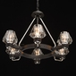 Lampa wisząca styl loft, 6-ramion, czarna, szklane klosze regenbogen loft 104012506