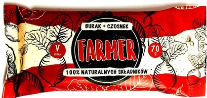 Farmer burak+czosnek baton 100 naturalnych składników 70g