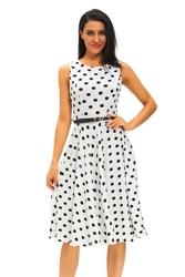 Sukienka w czarne kropki, 61168