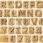 Naklejka drewniany alfabet