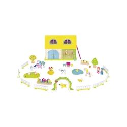Farma domek + drewniane figurki