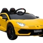 Lamborghini aventador yellow sportowe auto na akumulator + pilot