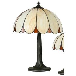 Lampka stołowa z witrażowym kloszem tesso candellux 41-03532
