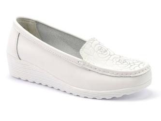 Półbuty lanqier 40c629 biały