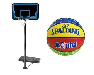 Zestaw kosz do koszykówki lifetime cleveland piłka spalding nba jr