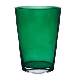 Wazon szklany na kwiaty róża 19,5 cm zielony
