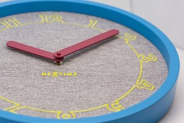 Zegar na ścianę calmer nextime niebieski, szary 3203