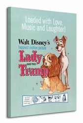 Lady And The Tramp Love, Music and Laughter - Obraz na płótnie