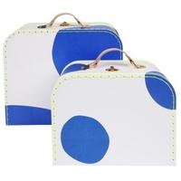 Meri meri - walizki kropki niebieskie