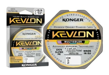 Plecionka Kevlon Multicolor x4 0,12mm 150m 10,10kg Konger