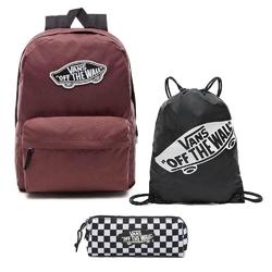 Plecak vans realm backpack - vn0a3ui6ali 295 + piórnik + worek