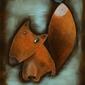 Lis i ptak - plakat wymiar do wyboru: 61x91,5 cm
