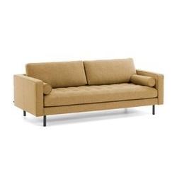 Tapicerowana sofa humter 3-osobowa musztardowa