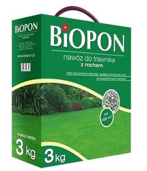 Biopon, nawóz granulowany do trawnika z mchem, 3kg