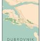 Dubrownik mapa kolorowa - plakat wymiar do wyboru: 61x91,5 cm
