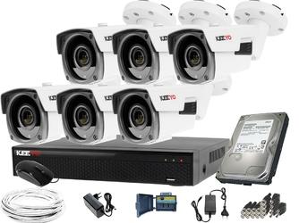 Zestaw do monitoringu: rejestrator lv-xvr84se-ii, 6x kamera lv-al60hvtw-s, 1tb, akces