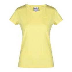 Koszulka damska diadora l.ss t-shirt chromia - żółty