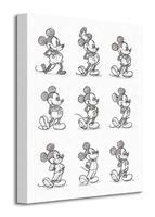 Mickey mouse sketched - multi - obraz na płótnie