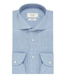 Elegancka koszula męska profuomo sky blue w pepitkę 38