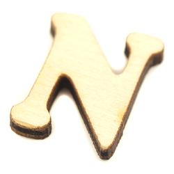 Drewniana literka do rękodzieła - N - N