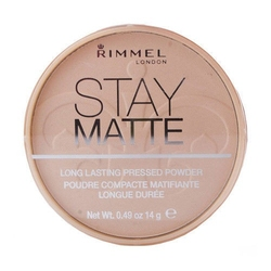 Rimmel london stay matte long lasting pressed powder 005 silky beige kosmetyki damskie - puder 14g - 005 silky beige