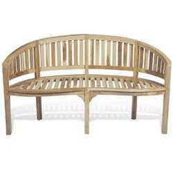 Ławka do ogrodu 151 cm banna drewniana