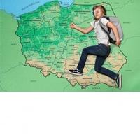 Ręcznik mapa polski xxl