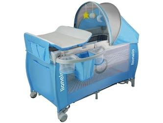Lionelo sven plus blue łóżeczko turystyczne + przewijak + moskitiera