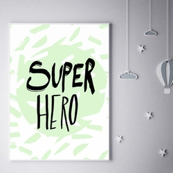 Super bohater miętowy - plakat wymiar do wyboru: 30x40 cm