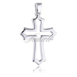 Srebrny krzyż pr.925 krzyżyk połysk
