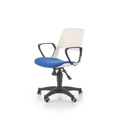 Jet fotel młodzieżowy biało-niebieski