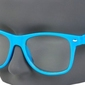 Błękitne okulary nerdy wayfarer  zerówki damskie i męskie