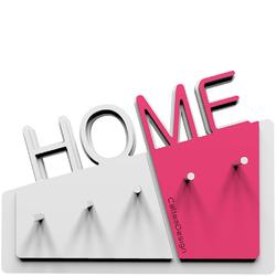 Wieszak na klucze Home CalleaDesign biały  fuksja 18-001-72