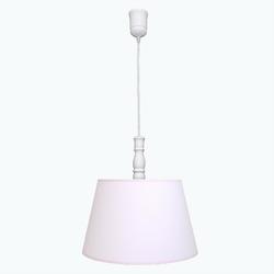 Lampa wisząca roomee decor - pudrowy róż z różową lamówką