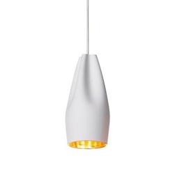 Lampa wisząca pleat box 13 biało-złota