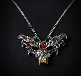 Naszyjnik maska wampira - seria: dzieci nocy