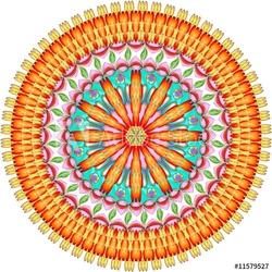 Obraz na płótnie canvas trzyczęściowy tryptyk mandala