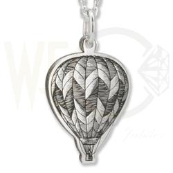 Wisiorek z łańcuszkiem ze srebra wzór balon- 1