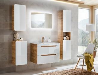 Szafka łazienkowa z umywalką kasuba 6080 cm białadąb