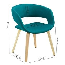 Krzesło gracja skandynawskie zielone
