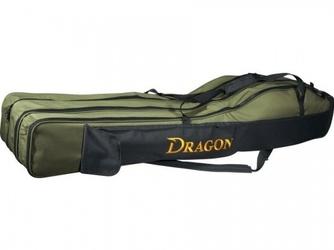 Pokrowiec na wędki trójkomorowy 130cm , dragon