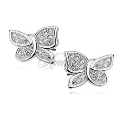 Srebrne kolczyki pr. 925 motyle z cyrkoniami