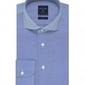 Niebieska koszula męska taliowana, slim fit z bawełny two ply 36