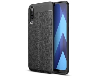 Etui alogy leather armor do samsung galaxy a30sa50a50s czarne + szkło