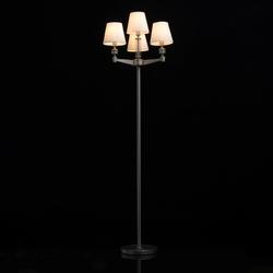Lampa podłogowa satynowy nikiel i białe klosze mw-light neoclassic 700043104