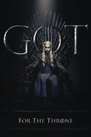 Game of thrones daenerys for the throne - plakat