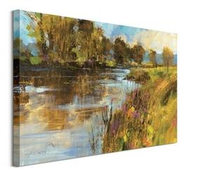Spring river - obraz na płótnie